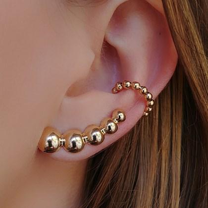 BRINCO EAR CUFF BOLAS BM032-O