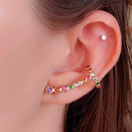 BRINCO EAR CUFF COLORS AMETISTA BM765-O