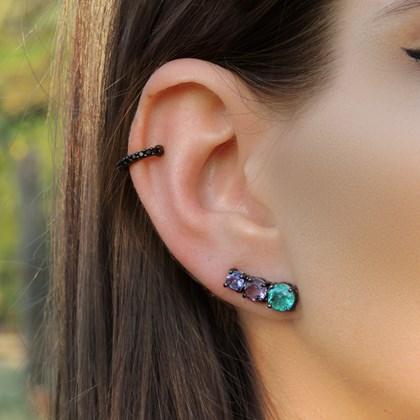 BRINCO EAR CUFF COLORS TURMALINA FUSION MB005-G