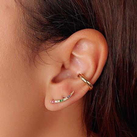 BRINCO EAR CUFF COM ZIRCÔNIA COLORS BM377-O