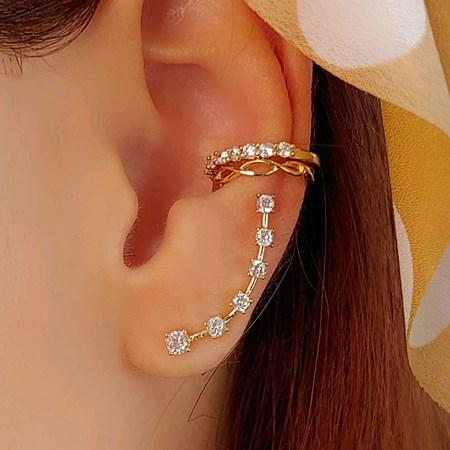 BRINCO EAR CUFF COM ZIRCÔNIAS CRISTAL BM825-O