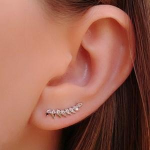 BRINCO EAR  CUFF CRAVEJADO SPIKES M12378-R