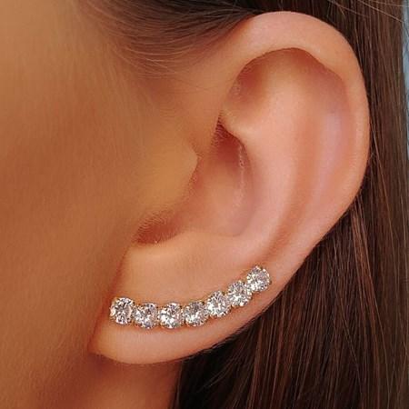 BRINCO EAR CUFF DE ZIRCONIA CRISTAL BM194-O
