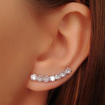 BRINCO EAR CUFF DE ZRICONIA CRISTAL BM194-R