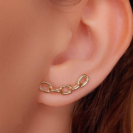 BRINCO EAR CUFF ELOS NO OURO BM317-O