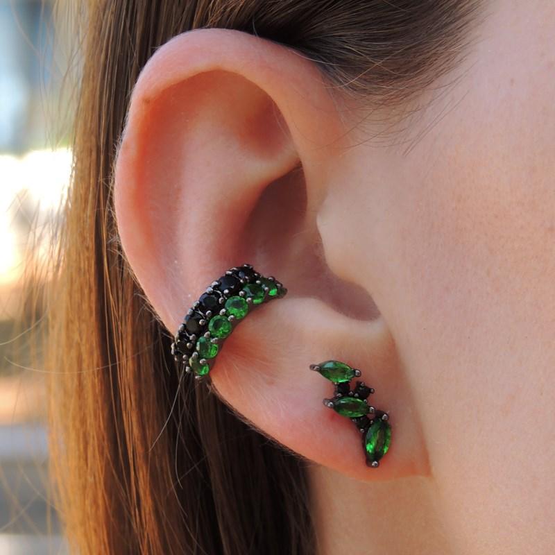 BRINCO EAR CUFF NAVETE ESMERALDA GM1016-G