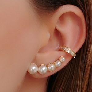 BRINCO EAR CUFF PÉROLAS BM049-O