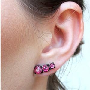 BRINCO EAR CUFF REDONDO RUBELITA FUSION MB005-G
