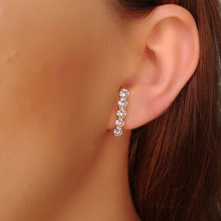 BRINCO EAR HOOK COM ZIRCÔNIA REDONDA BM184-O