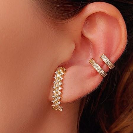 BRINCO EAR HOOK CRAVEJADO LUXO BM236-O