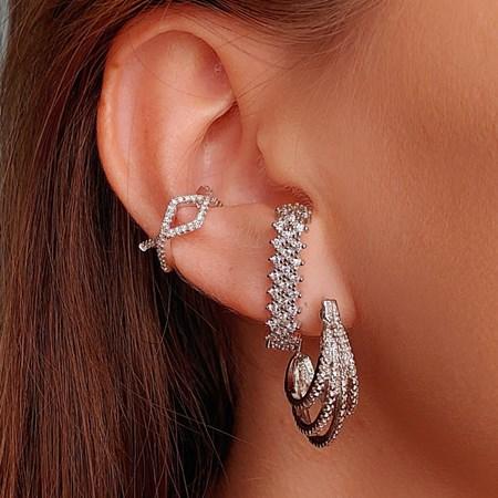 BRINCO EAR HOOK CRAVEJADO LUXO BM236-R