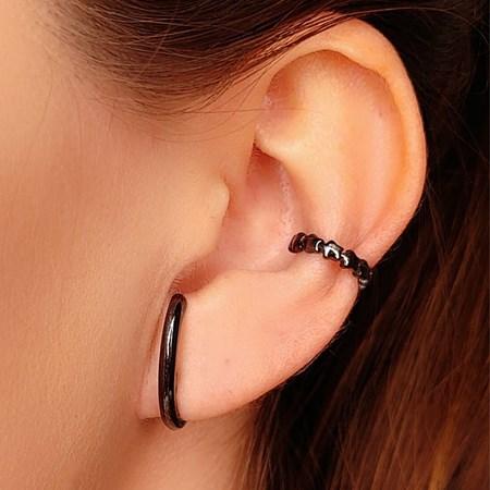 BRINCO EAR HOOK LISO NO GRAFITE BM313-G