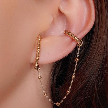 EAR HOOK COM PIERCING FAKE COM CORRENTE BM326-O